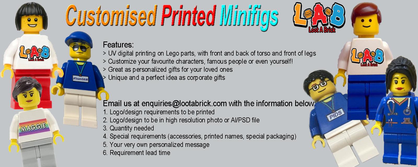 Custom Printed Minifigures (Lego Parts)