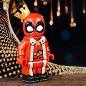 Custom Lego Minifigure King Deadpool